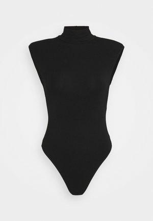 MOCK NECK POWER BODYSUIT - Print T-shirt - black