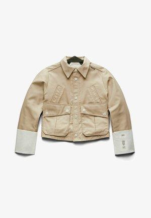 CROPPED FIELD - Faux leather jacket - westpoint khaki