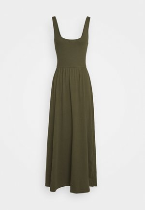 BASIC - JERSEY MAXI DRESS - Jerseyjurk - olive night