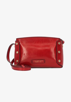 ELEONORA UMHÄNGETASCHE LEDER 22 CM - Across body bag - rosso ribes
