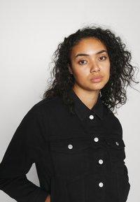 Selected Femme Curve - SLFTENNA JACKET - Denim jacket - black denim - 3