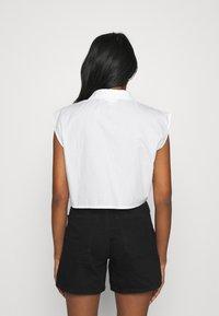 Monki - Button-down blouse - white solid - 2