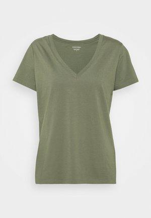 NEW SUPIMA VEE - Camiseta básica - dark olive