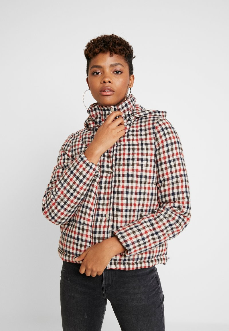 ONLY - ONLSTINA CHECK SHORT JACKET - Winter jacket - moonbeam/ketchup