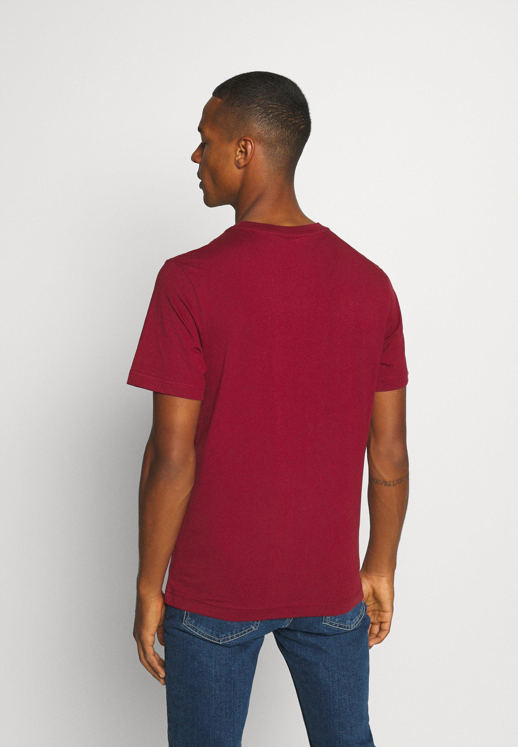 Weekday Basic T-shirt - burgundy FD3IW