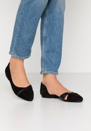 LEATHER  - Ballet pumps - black