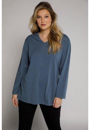 GROSSE GRÖSSEN - Long sleeved top - mattes jeansblau
