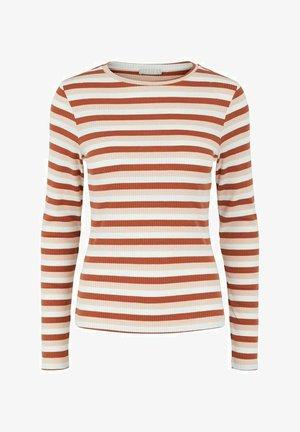 GESTREIFT - Camiseta de manga larga - burnt ochre