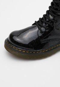 Dr. Martens - 1460 GLITTER - Šněrovací kotníkové boty - black - 5