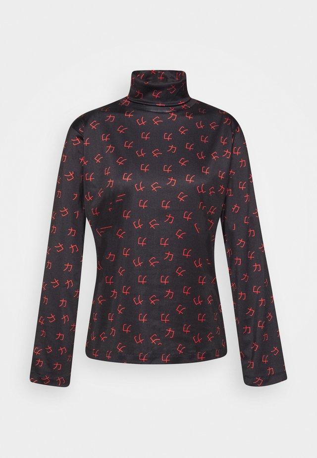 TESS TURTLENECK - Långärmad tröja - red/black