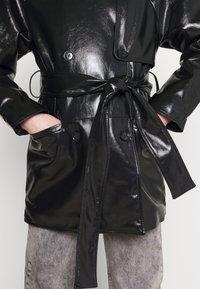 Weekday - JANIS SHORT JACKET - Short coat - black - 6