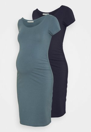 2 PACK - Vestido de tubo - dark blue/teal