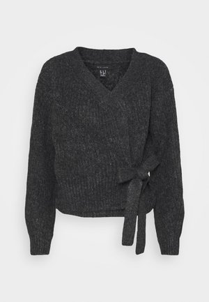WRAP JUMPER - Strikkegenser - mid grey