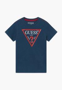 Guess - TODDLER CORE - T-shirt print - beauty blue - 0