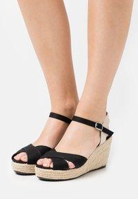 TOM TAILOR - Platform sandals - black - 0