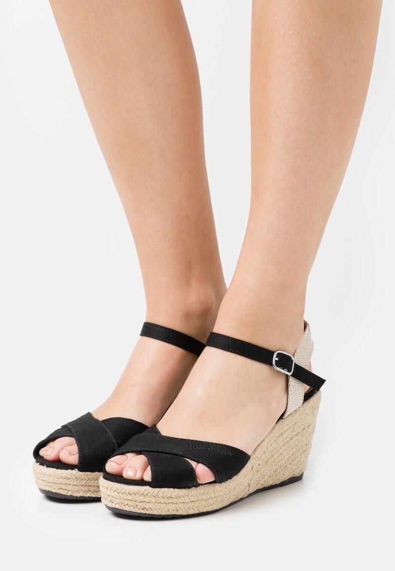 TOM TAILOR - Platform sandals - black