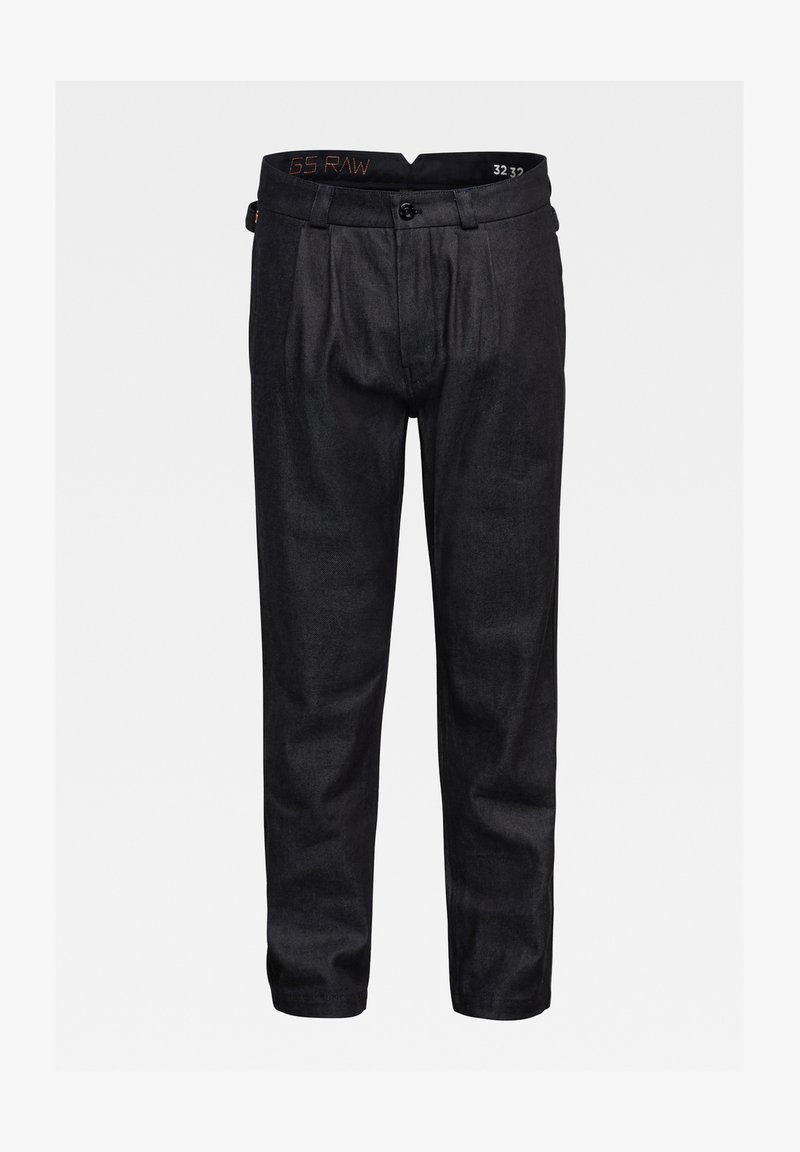 G-Star - VARVE RELAXED PLEATED - Trousers - dark blue