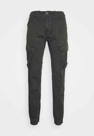 SPY PANT - Cargo trousers - greyblack