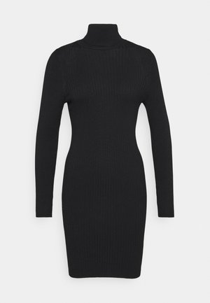 ONLELLY ROLLNECK DRESS - Robe pull - black