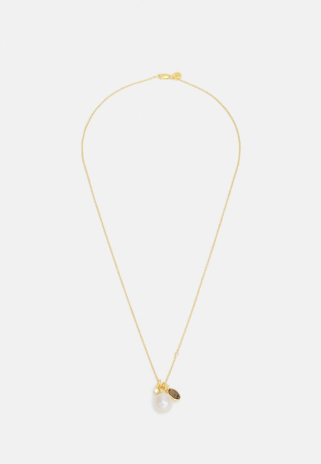 CALLAS NECKLACE - Kaulakoru - gold-coloured/white