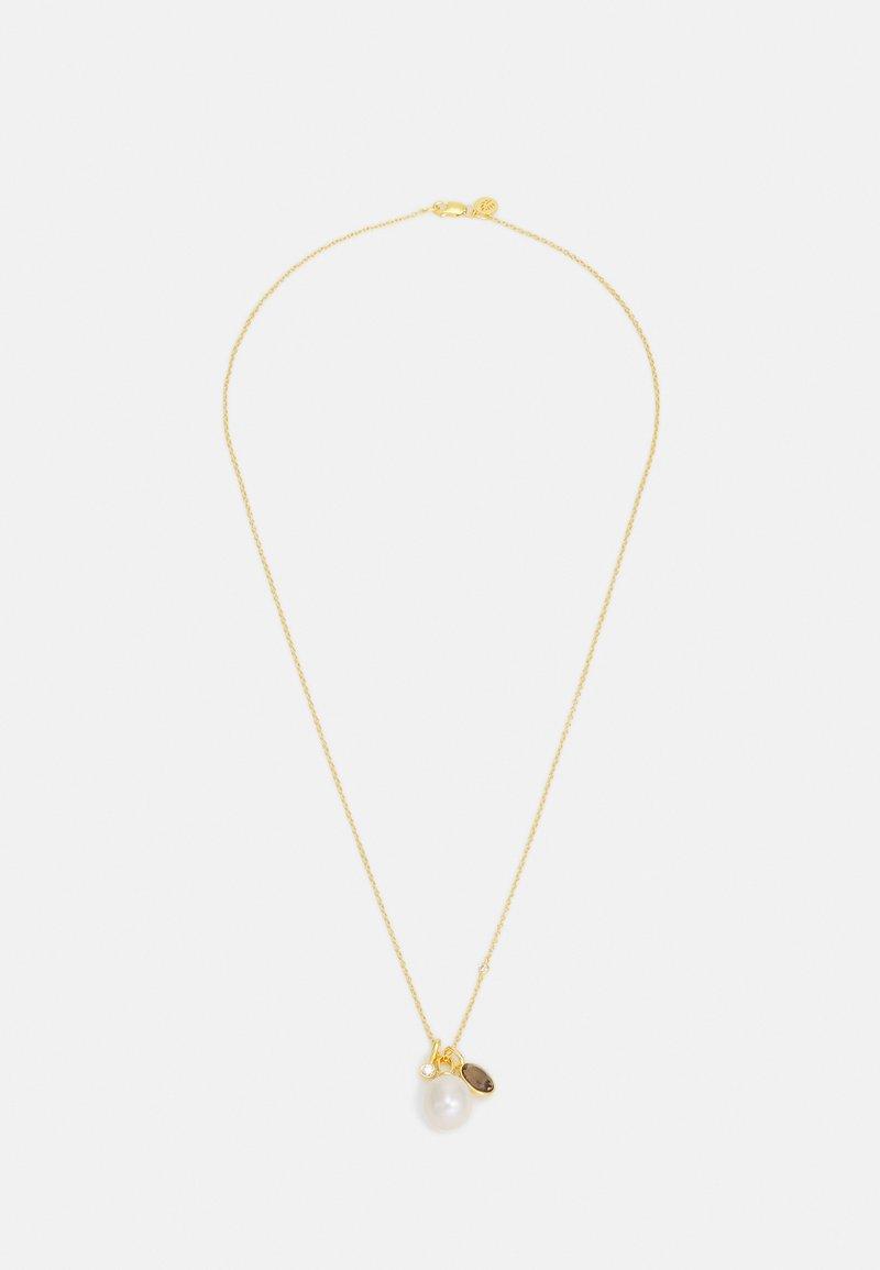 Julie Sandlau - CALLAS NECKLACE - Kaulakoru - gold-coloured/white