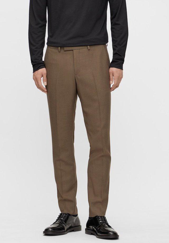 Spodnie garniturowe - wood brown
