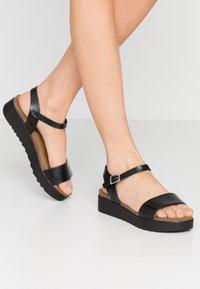 Grand Step Shoes - EDEN - Platform sandals - black - 0