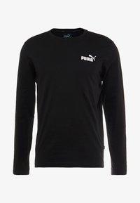 Puma - LOGO TEE - Long sleeved top - black - 4