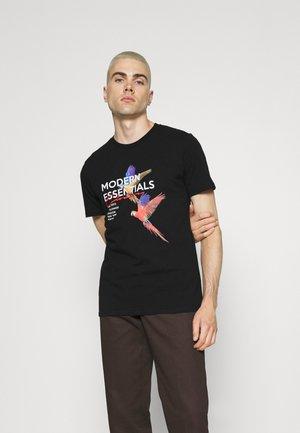 PARLEZ TEE - T-shirt z nadrukiem - black