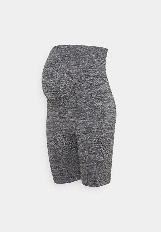 Seamless maternity cycling shorts - Kraťasy - grey