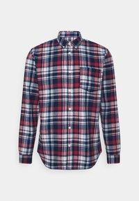 SLHREGZANE SHIRT CHECK  - Shirt - brick red