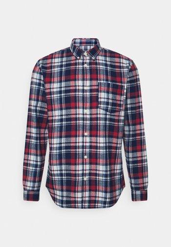 SLHREGZANE SHIRT CHECK  - Skjorta - brick red