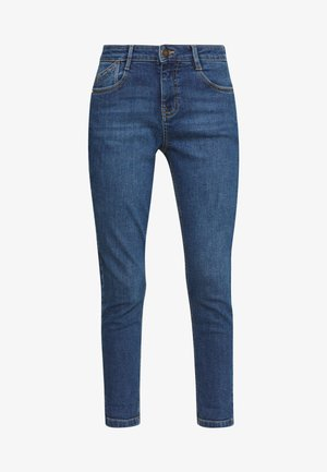 PETITES MIDWASH ABRASION HARPER  - Slim fit -farkut - mid wash denim