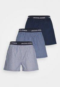 Jack & Jones - JACCHECK 3 PACK - Trenýrky - dress blues/light grey melange - 4