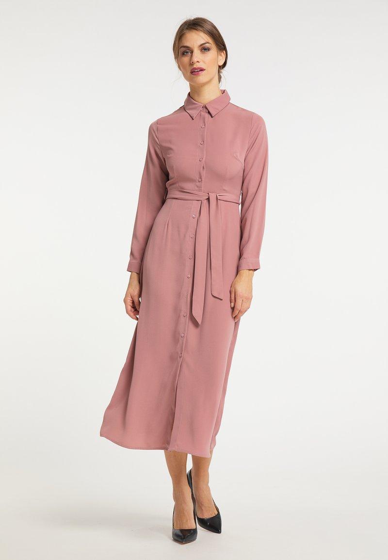 usha - Shirt dress - dunkelrosa