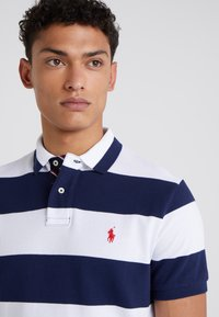 Polo Ralph Lauren - SLIM FIT - Polo shirt - white/newport navy - 4