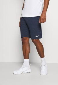 Nike Performance - DRY FIT - Krótkie spodenki sportowe - obsidian heather/white - 0