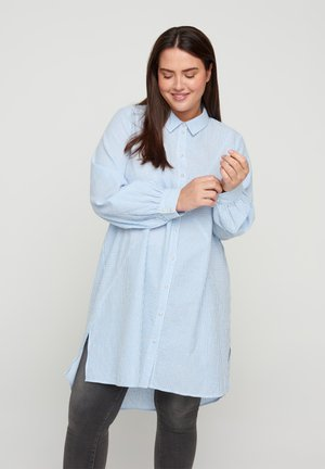 Button-down blouse - skyway stripe