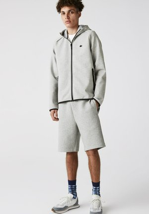 Zip-up sweatshirt - heidekraut grau / hellgrau