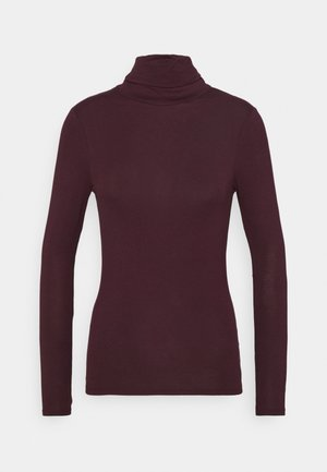 ROLL NECK - Long sleeved top - dark burgundy