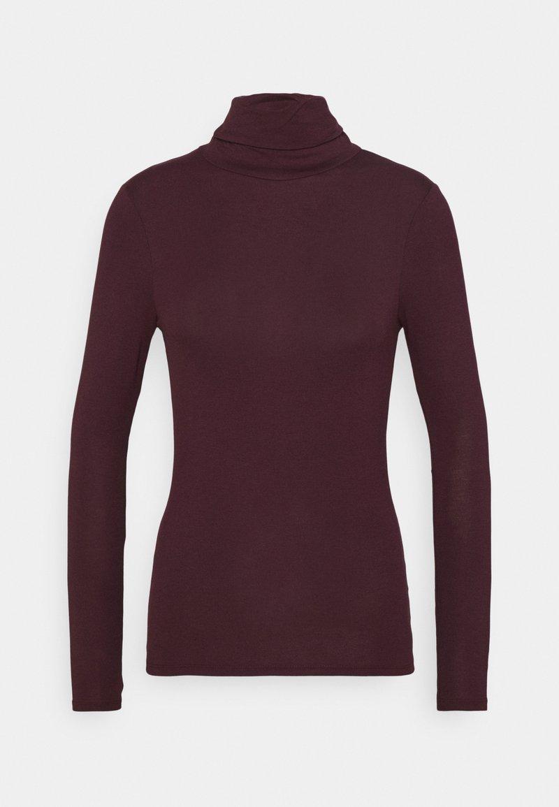 New Look - ROLL NECK - Long sleeved top - dark burgundy