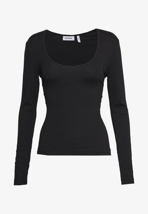 JULIANA SCOOPED LONG SLEEVE - Long sleeved top - black