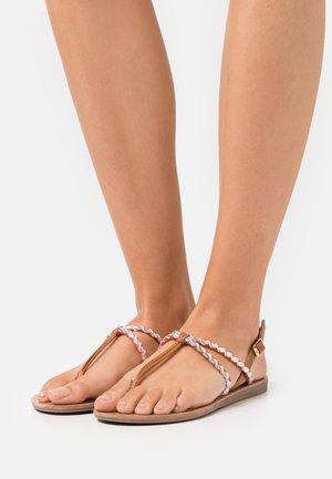 ONLMAYA BRAID  - T-bar sandals - coral