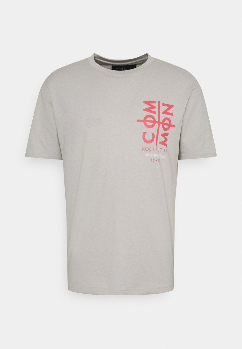 Common Kollectiv - TOKYO UNISEX - T-shirt med print - light grey