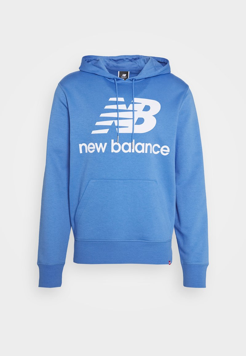 New Balance - ESSENTIALS STACKED LOGO PO HOODIE - Hoodie - royal blue