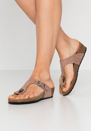 STHELLAE - T-bar sandals - taupe