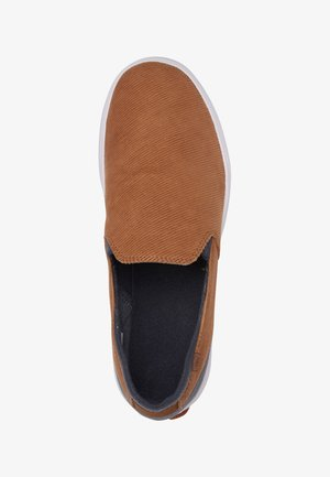 QUIKSILVER™ SURF CHECK PREMIUM - CHAUSSURES SLIP-ON POUR HOMME A - Slip-ons - brown/brown/white