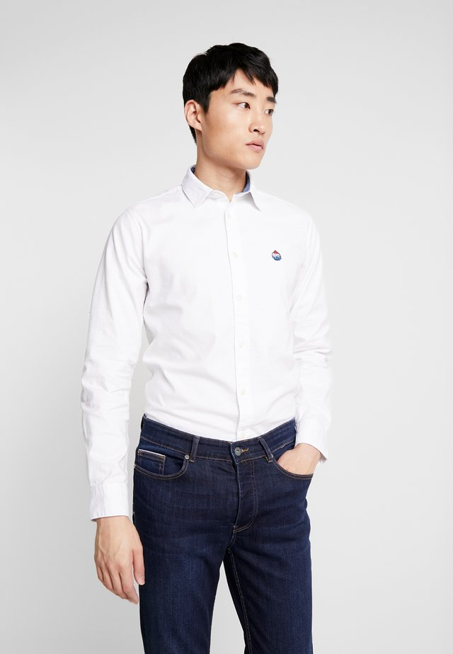 SOLID OXFORD STRECH - Shirt - white