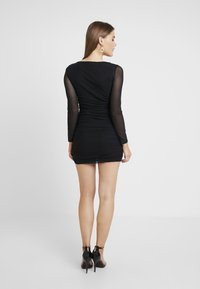 Missguided - SQUARE NECK BODYCON MINI DRESS - Robe fourreau - black - 3