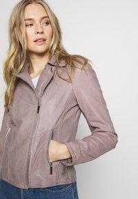 Oakwood - PALM - Veste en cuir - grey - 3
